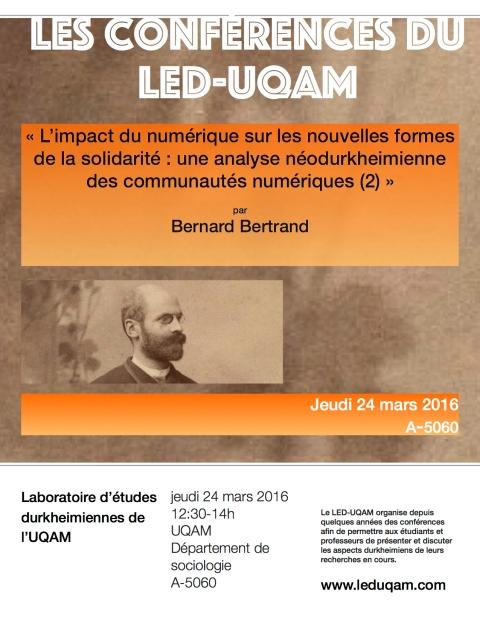 affiches Bernard bertrand led 2016